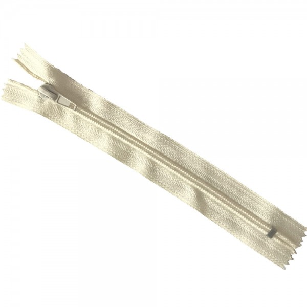 Reißverschluss, ca.18cm, creme